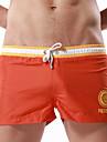 Herr Badshorts Andningsfunktion Terylen Badkläder Standkläder Underdelar Snörning Simmning Strand