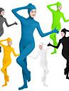 Zentai Dräkter Kattdräkt Huddräkt Ninja Cosplay Vuxna Lycra® Cosplay-kostymer Kön Dam Svart / Grön / Vit Ensfärgat / Hög Elasisitet
