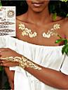 3st nya indiska arabiska mönster gyllene silver flash tribal henna tatuering klistra metallicos metall tatoo klistermärken ark på kroppen hand