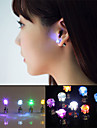 2pcs LED Earring Light Up Crown Glowing Crystal Stainless Ear Drop Ear Stud Earring Jewelry for Dance/Xmas/KTV Party Women Girl