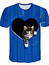 Men\'s Club Beach Street chic / Exaggerated T-shirt - 3D / Graphic / Animal Print Royal Blue