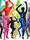 Zentai Dräkter Huddräkt Helkroppsdräkt Ninja Vuxna Spandex Lycra Cosplay-kostymer Kön Herr Dam Svart / Vit / Purpur Enfärgad Halloween / Hög Elasisitet