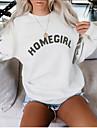 Women\'s Basic Sweatshirt - Letter Black S