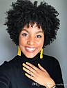 Syntetiska peruker Afro Kinky Bob-frisyr Peruk Korta Svart Syntetiskt hår 6 tum Dam Klassisk Dam syntetisk Svart / Afro-amerikansk peruk