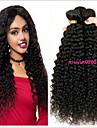 3 paket Brasilianskt hår Kinky Curly Obehandlad hår 100% Remy Hair Weave Bundles Peruktillbehör Huvudbonad Human Hår vävar 8-28 tum Naurlig färg Hårförlängning av äkta hår Luktfri Sexig Lady Bästa