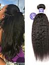 3 paket Brasilianskt hår Yaki Rakt Obehandlad hår 100% Remy Hair Weave Bundles Human Hår vävar Förlängare bunt hår 8-28 tum Naurlig färg Hårförlängning av äkta hår Party Förlängning Sexig Lady