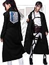 Inspirerad av Attack on Titan Cosplay Animé Cosplay-kostymer Japanska Cosplay Toppar / Bottoms Kappa Till Herr / Dam