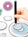 Teckningsleksak Leksaksritplattor Spirograph Målning Handgjort PP+ABS ABS + PC Barn Alla Leksaker Present 500 pcs