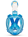 Snorkelmask Läckagesäker enda fönster - Simmning Silikon - Till Barn Ljusblå