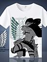 Inspirerad av Attack on Titan Cosplay Animé Cosplay-kostymer Japanska Cosplay T-shirt T-shirt Till Herr / Dam