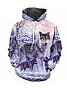 Men\'s Plus Size Hoodie Color Block / 3D Hooded Casual / Street chic Royal Blue US32 / UK32 / EU40 US34 / UK34 / EU42 US36 / UK36 / EU44 US38 / UK38 / EU46 US40 / UK40 / EU48 US42 / UK42 / EU50 US44