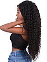 Äkta hår Hel-spets Peruk Gratis del stil Brasilianskt hår Loose Curl Svart Peruk 130% Hårtäthet Dam Dam Lång Äkta peruker med hätta Clytie