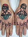 5st vattentät tillfällig tatuering klistermärke sun moon fake tatovering tatoo tatouage hand fot arm för män kvinnor tjej