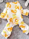 Hund Jumpsuits Pyjamas Vinter Hundkläder Gul Rosa Kostym Cotton Tecknat Ledigt / vardag XS S M L XL
