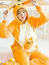 Vuxna Kigurumi-pyjamas Känguru Onesie-pyjamas Flanell Gul Cosplay För Herr och Dam Pyjamas med djur Tecknad serie Festival / högtid Kostymer