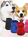 Husdjur Hund Skor och stövlar Hundstövlar och -skor Ledigt / vardag Enfärgad För husdjur Läder Svart / Sommar / Vinter