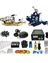 BaseKey Professionell Tattoo Kit Tattoo Machine - 2 pcs Tatueringsmaskiner, Professionell / Bästa kvalitet Aluminum Legering 19 W 1 x roterande tatueringsmaskin för linjer och skuggning / 1 x