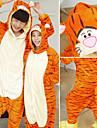 Vuxna Kigurumi-pyjamas Groda Björn Tiger Onesie-pyjamas Flanell Grön / Röd / Blå Cosplay För Herr och Dam Pyjamas med djur Tecknad serie Festival / högtid Kostymer