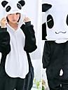 Vuxna Kigurumi-pyjamas Björn pika pika Panda Onesie-pyjamas Flanell Svart / Brun / Vit Cosplay För Herr och Dam Pyjamas med djur Tecknad serie Festival / högtid Kostymer