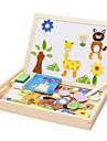 Muwanzi Teckningsleksak Leksaksritplattor Byggklossar Träpussel Magnetic Easel Utbildningsleksak Fyrkantig Magnet Barn Present