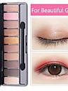 mode ögonskugga palett 10 färger matt ögonskugga palett glitter ögonskugga makeup naken skönhet makeup uppsättning kosmetika verktyg het