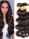 3 paket Indiskt hår Vågigt Äkta hår Human Hår vävar bunt hår 8-28 tum Naurlig färg Hårförlängning av äkta hår Bästa kvalitet Heta Försäljning Häftig Människohår förlängningar / 8A