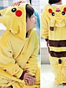 Barn Kigurumi-pyjamas Giraff pika pika Totoro Onesie-pyjamas Flanell Svart / Vit / Purpur Cosplay För Pojkar och flickor Pyjamas med djur Tecknad serie Festival / högtid Kostymer