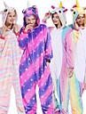 Vuxna Kigurumi-pyjamas Unicorn Djurmönstrad Onesie-pyjamas Flanell Brun / Ljusblå / Vit+Blå Cosplay För Herr och Dam Pyjamas med djur Tecknad serie Festival / högtid Kostymer / Trikå / Onesie