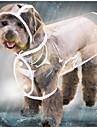 Katt Hund Regnjacka Jakke Vinter Hundkläder Svart Vit Purpur Kostym Spädbarn Liten hund Husky Labrador alaskan malamute Plast Enfärgad Transparent Vattentät Häftig XS S M L XL XXL