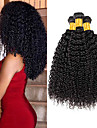 3 paket Peruanskt hår Kinky Curly Äkta hår Human Hår vävar bunt hår Hårförlängningar av äkta hår 8-28 tum Naurlig färg Hårförlängning av äkta hår Förlängning Bästa kvalitet Heta Försäljning / 8A