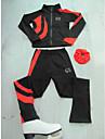 Konståkningsjacka med byxor Dam Flickor Skridskor Jacka Byxa Svart / röd Orange Blå Elastisk Träning Tävling Skridskoplagg Klassisk Konståkning