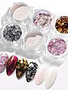 6 pcs Genomskinligt klistermärke / Färgskiftande Glitter Glitter Till Fingernageö Mode nagel konst manikyr Pedikyr Dagligen / Festival Enkel