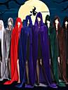 häxa Vampyr Kappa Cosplay Kostymer / Dräkter Festklädsel Kostym Julklänning Vuxna Herr Cover Up Halloween Jul Halloween Karnival Festival / högtid Satin Sammet Svart / Brun / Vit Herr Dam Karnival
