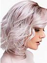 Syntetiska peruker Vattenvågor Bob-frisyr Peruk Nyans Korta Svart / Rosa Syntetiskt hår 12inch Dam Luktfri Justerbar Värmetåligt Nyans / Ombre-hår