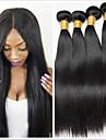 4 paket Brasilianskt hår Rak Äkta hår Human Hår vävar Hårförlängningar av äkta hår Naurlig färg Hårförlängning av äkta hår Förlängning Heta Försäljning Människohår förlängningar / 8A