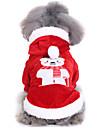 Hund Outfits Vinter Hundkläder Röd Jul Halloween Kostym Polyster Geometrisk Semester Rolig S M L XL
