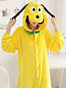 Vuxna Kigurumi-pyjamas Dog Onesie-pyjamas Flanell Gul Cosplay För Herr och Dam Pyjamas med djur Tecknad serie Festival / högtid Kostymer