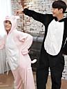 Vuxna Kigurumi-pyjamas Gris Onesie-pyjamas Flanell Svart / Rosa Cosplay För Herr och Dam Pyjamas med djur Tecknad serie Festival / högtid Kostymer