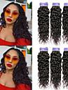 6 paket Indiskt hår Vattenvågor Obehandlad hår 100% Remy Hair Weave Bundles Huvudbonad Human Hår vävar bunt hår 8-28 tum Naturlig Naurlig färg Hårförlängning av äkta hår Naturlig Ny ankomst Mode