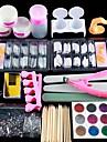 Akryl Nail Art Kit Manikyr Set 12 färger Nail Glitter Pulver Dekoration Akryl Pen Pensel Nail Art Tool Kit för nybörjare