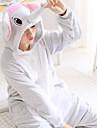Vuxna Kigurumi-pyjamas Gris Elefant Matt svart Onesie-pyjamas Flanell Svart / Vit / Röd Cosplay För Herr och Dam Pyjamas med djur Tecknad serie Festival / högtid Kostymer