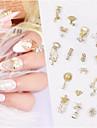 1 pcs Ny Design / Bästa kvalitet Oäkta pärla Paljetter Till Fingernageö Mode Kreativ nagel konst manikyr Pedikyr Dagligen / Festival Stilig / Ljuv