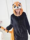 Vuxna Kigurumi-pyjamas Tvättbjörn Onesie-pyjamas Flanell Svart Cosplay För Herr och Dam Pyjamas med djur Tecknad serie Festival / högtid Kostymer
