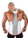 Herr Lappverk Linne för jogging Färgblock Löpning Fitness Väst Ärmlös Sportkläder Andningsfunktion Mjuk Svettavvisande Microelastisk