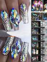 3D ab diamant juveler nagel glitter strass kristall glas nagel konst dekor 12 lådor