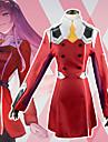 Inspirerad av Darling i Franxx Cosplay Animé Cosplay-kostymer Japanska cosplay Suits Kjol / Strumpor / Knyta Till Dam / Huvudbonad