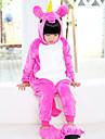 Barn Kigurumi-pyjamas Unicorn Onesie-pyjamas Flanell Purpur / Gul / Ljuslila Cosplay För Pojkar och flickor Pyjamas med djur Tecknad serie Festival / högtid Kostymer