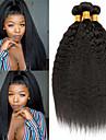 3 paket Brasilianskt hår Kinky Rakt Äkta hår Human Hår vävar bunt hår Hårförlängningar av äkta hår 8-28 tum Naurlig färg Hårförlängning av äkta hår Förlängning Bästa kvalitet Heta Försäljning / 8A