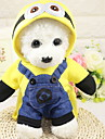 Hund Outfits Vinter Hundkläder Gul Kostym Polyster Figur Semester Halloween XS S M L XL XXL