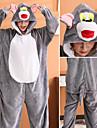 Vuxna Kigurumi-pyjamas Katt Onesie-pyjamas Flanell Grå Cosplay För Herr och Dam Pyjamas med djur Tecknad serie Festival / högtid Kostymer